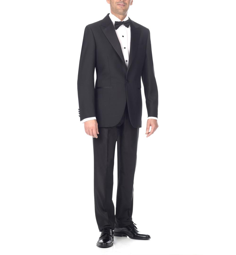 Esmoquin negro, chaqueta y pantalón negro