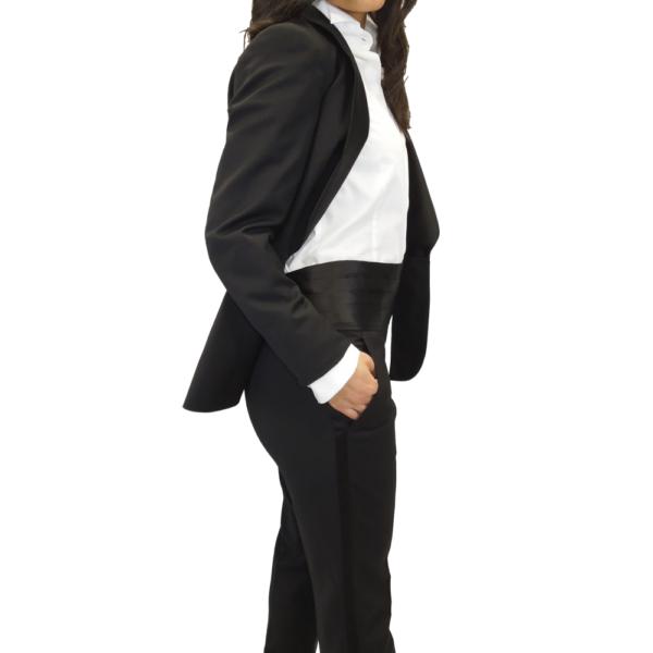 pantalón con galón negro lateral