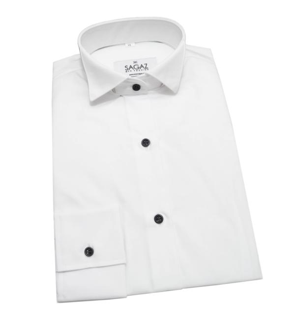 Camisa blanca esmoquin mujer.