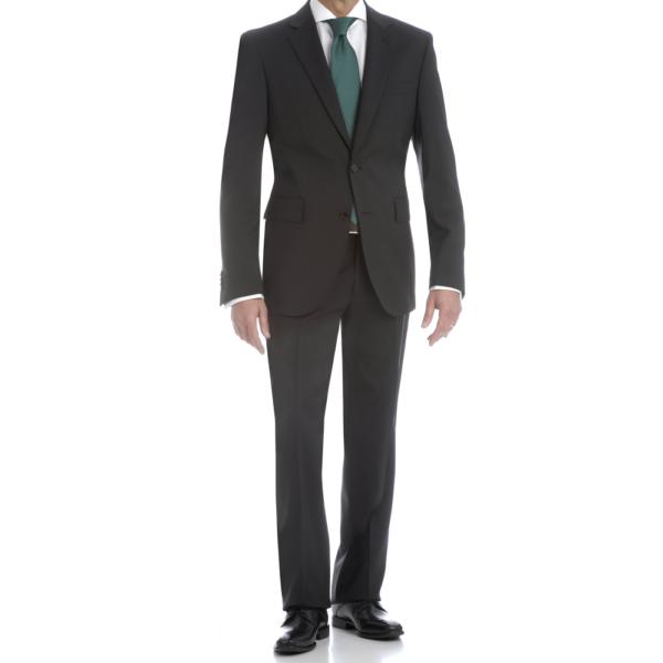 Traje negro, americana y pantalón slim fit