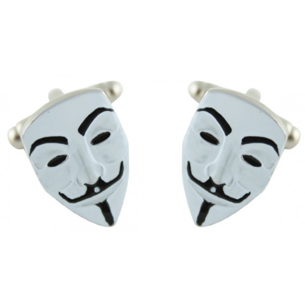gemelo con forma de máscara en blanco