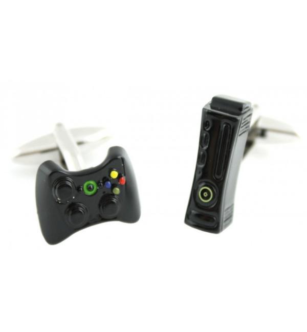 gemelo de mando de playstation y xbox en negro