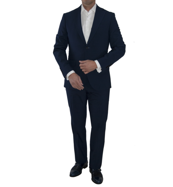 Traje de hombre, chaqueta y pantalón azul marino