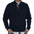 Jersey azul marino cuello cisne con botones