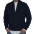 Chaqueta de lana azul marino con cremallera.
