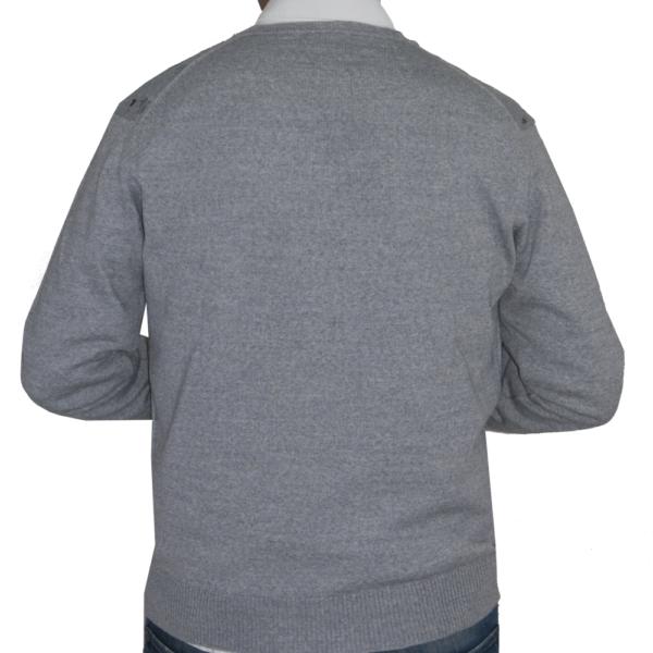 Detalle espalda lisa jersey gris claro