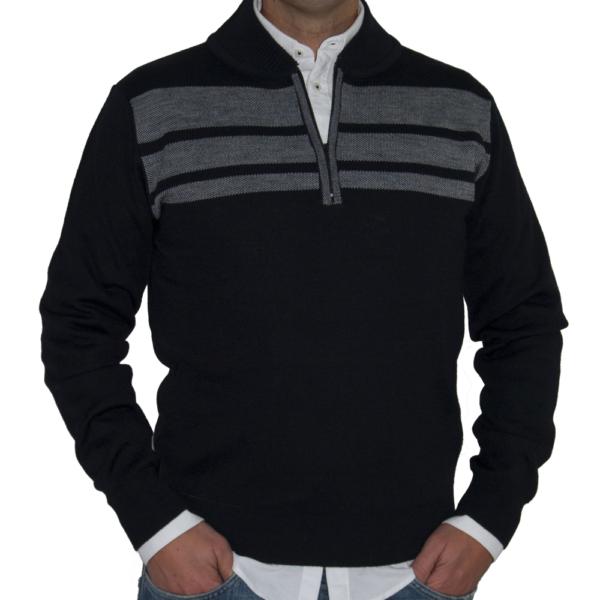 Jersey marino raya gris.