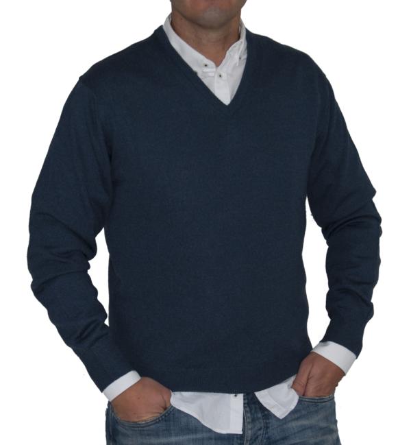 Jersey de pico azul índigo.