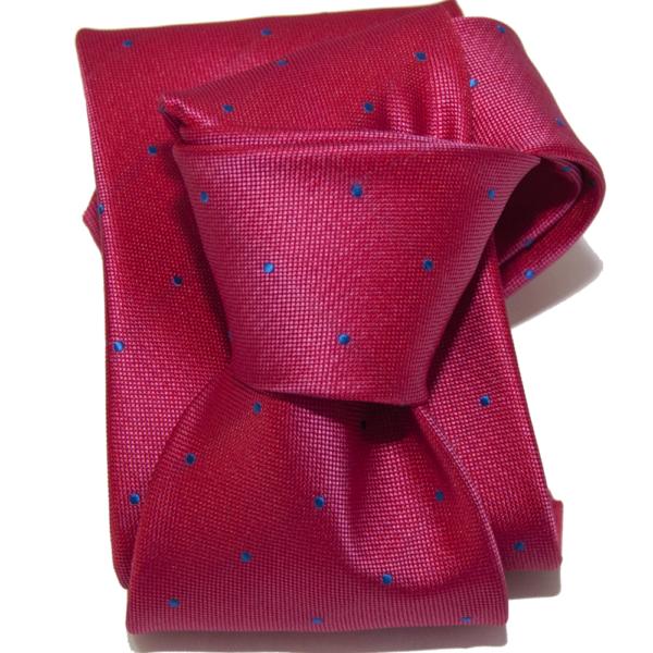 Corbata rosa topo azul.