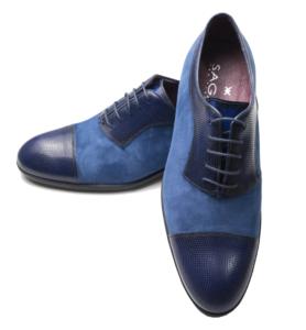 Zapato azul.